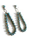 Turquoise Loop Earrings by Jane Quam (ER5866)
