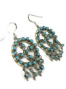 Turquoise Dangle Earrings by Wayne Johnson (ER5670)