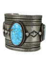 Kingman Turquoise Cuff Bracelet by Albert Jake (BR6437)