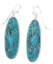 Turquoise Slab Earrings (ER5916)