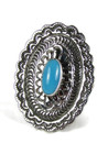 Sleeping Beauty Turquoise Concho Ring Size 8 (RG6023-S9)