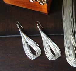 Liquid Silver Earrings