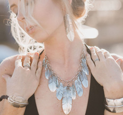 Lena Platero Silver Feather Jewelry