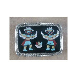 Beverly Etsate Eagle Kachina Belt Buckle