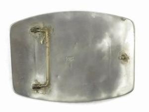 Sterling Silver Large Bear Belt Buckle by Tommy Singer, Navajo