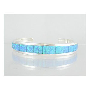 Sterling Silver Opal Inlay Bracelet