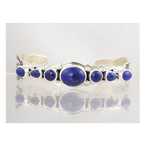 Sterling Silver Lapis Bracelet with Arrows