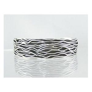 "Sterling Silver Branch Wire Bracelet 3/4"" by Murphy Platero, Navajo"