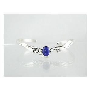 Sterling Silver Lapis Bracelet (BR3142)