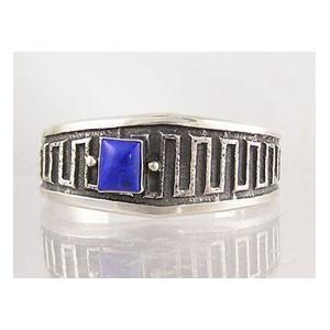 Sterling Silver Tuffa Cast Lapis Bracelet