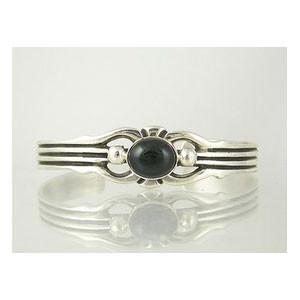 Sterling Silver Onyx Bracelet (BR4076)