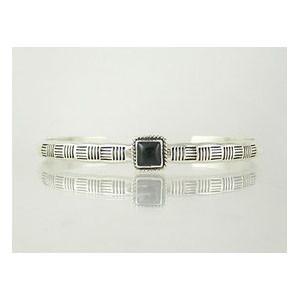 Sterling Silver Onyx Bracelet (BR4110-S)