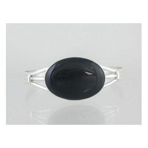 Sterling Silver Onyx Bracelet (BR4835)