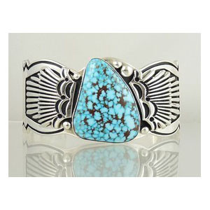 Natural Kingman Turquoise Bracelet by Steven Begay, Navajo
