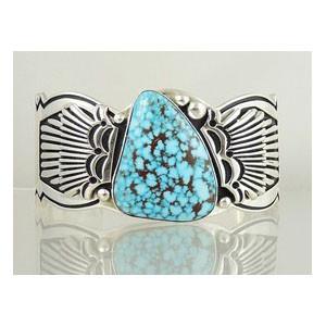 Natural Kingman Turquoise Bracelet by Steven Begay, Navajo