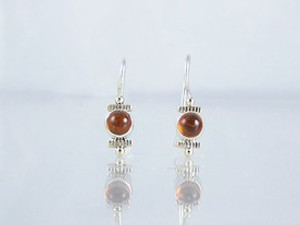 14k Gold & Silver Amber Earrings