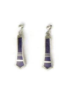 Sterling Silver Sugilite Inlay Earrings by Ervin Hoskie (ER0624)