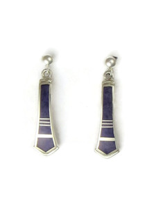 Sterling Silver Sugilite Inlay Earrings by Ervin Hoskie (ER0624)