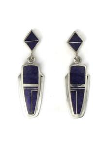 Sterling Silver Sugilite Earrings by Julius Burbank (ER0627)
