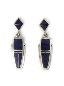 Sterling Silver Sugilite Earrings by Julius Burbank (ER0627)