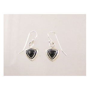 Sterling Silver Onyx Dangle Earrings (ER2007)