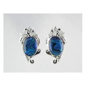 Sterling Silver Paua Shell Earrings (ER2340)