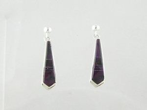 Sterling Silver Sugilite Earrings (ER2491)