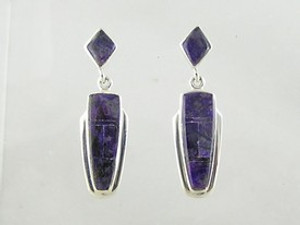 Sterling Silver Sugilite Earrings (ER2494)