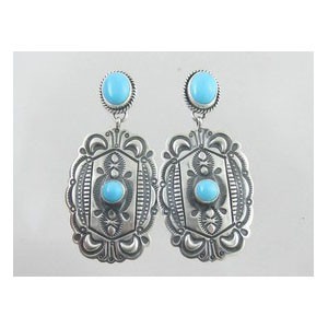 Sterling Silver Turquoise Earrings (ER2710)