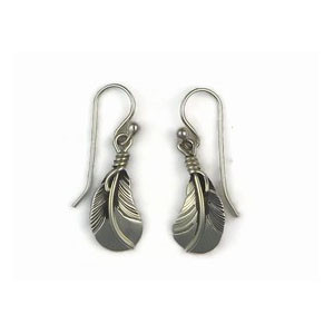 Sterling Silver Feather Earrings  (ER5020)