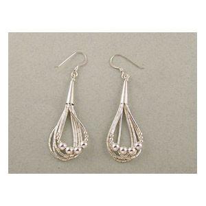 Liquid Silver Bead Earrings