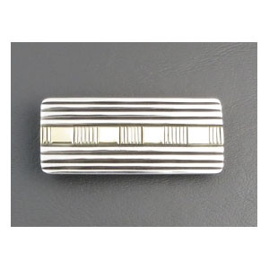14k Gold & Sterling Silver Money Clip by Bruce Morgan (MC140)