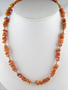 Spiny Oyster Shell & Opal Bead Necklace - Adjustable Length