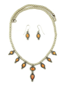 Spiny Oyster Shell Necklace & Earring Set (NK2169)