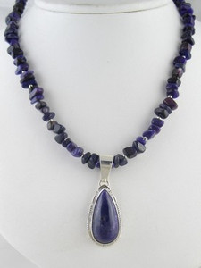 Sterling Silver Sugilite Necklace