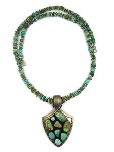 Natural Carico Lake Turquoise Arrowhead Necklace (NK4240)