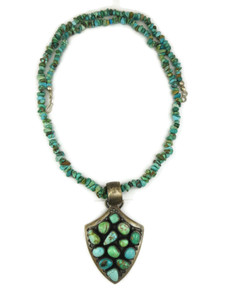 Natural Carico Lake Turquoise Arrowhead Necklace (NK4241)