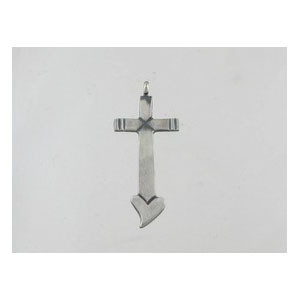 Sterling Silver Cross Pendant - Linda Marble (PD0130)