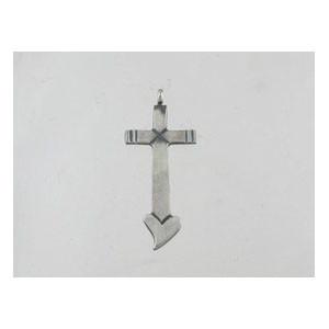 Sterling Silver Cross Pendant - Linda Marble (PD0130)