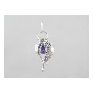 Sterling Silver Amethyst Pendant (PD0341)