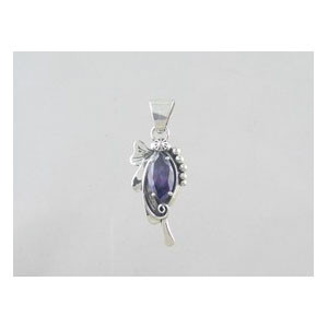 Sterling Silver Amethyst Pendant (PD0344)