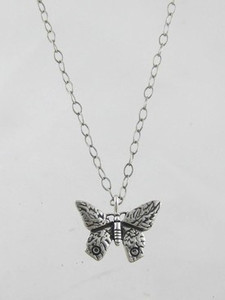 Sterling Silver Butterfly Pendant (PD0650)