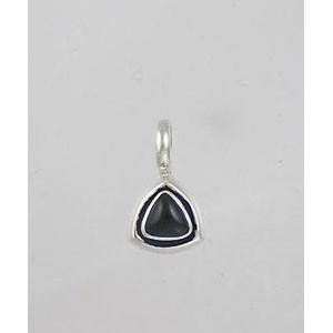 Small Triangle Onyx Charm Pendant