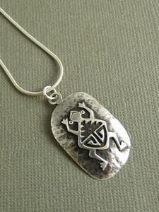 Native American Silver Frog Pendant