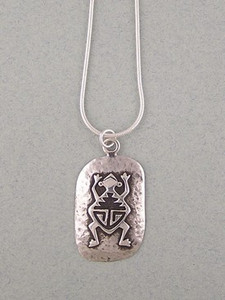 Native American Silver Frog Pendant