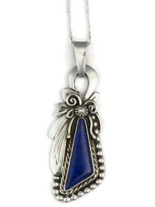 Silver Lapis Pendant by Fritson Toledo (PD3659)