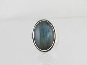Sterling Silver Labadorite Ring Size 8
