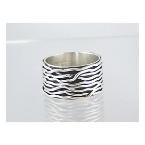 Sterling Silver Branch Wire Ring Size 9