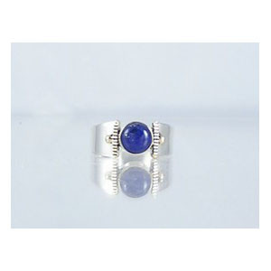 14k Gold & Silver Lapis Ring Size 5