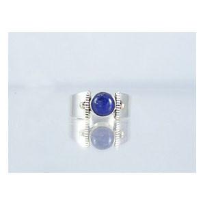 14k Gold & Silver Lapis Ring Size 8 1/2 (RG1705-G18)